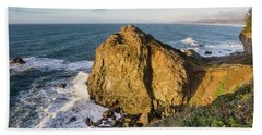 Wedding Rock Evening Light Beach Towel