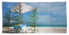 Beach Towel featuring the photograph Wedding Tent On The Beach by Jenny Rainbow