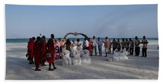 wedding with Maasai singers Beach Towel