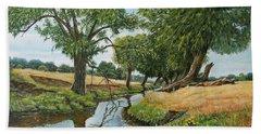 Weeping Willows At Beverley Brook Beach Towel
