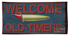 Welcome Fishing Sign Beach Towel