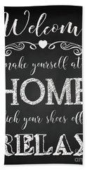 Beach Towel featuring the digital art Welcome Home-a by Jean Plout