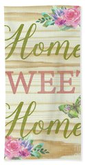 Beach Towel featuring the digital art Welcome Home-d by Jean Plout