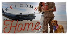 Welcome Home Beach Sheet