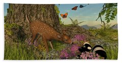 Welcome Spring Beach Towel by Methune Hively