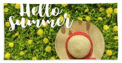 Beach Sheet featuring the photograph Welcome Summer by Teri Virbickis
