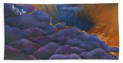 Skyscape Paintings Beach Towels