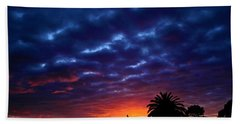 Beach Towel featuring the photograph Welcome The Night by Mark Blauhoefer