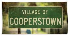 Welcome To Cooperstown Beach Towel