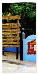 Welcome To Labadee Beach Sheet by Shelley Neff