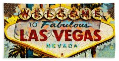 Beach Towel featuring the photograph Welcome To Las Vegas Nevada Whatever Happens Here Stays Here 20180518 by Wingsdomain Art and Photography