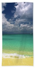 Welcome To Paradise Beach Towel by Marie Hicks