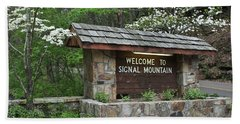 Welcome To Signal Mountain Spring Beach Towel