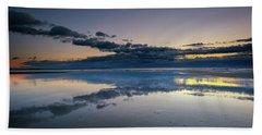 Beach Towel featuring the photograph Wells Beach Reflections by Rick Berk