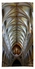 Wells Cathedral Ceiling  Beach Towel by Lexa Harpell
