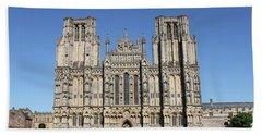 Wells Cathedral Beach Towel by Linda Prewer