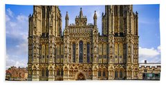 Wells Cathedral, Somerset Uk Beach Towel