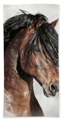 Welsh Cob Portrait Beach Towel