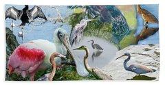 Welter Of Waterbirds Beach Sheet