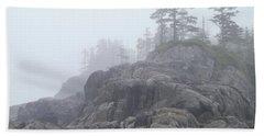 West Coast Landscape Ocean Fog I Beach Towel