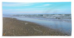 West End Seashells Beach Towel by Shelia Kempf