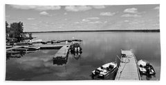 Beach Towel featuring the photograph West Hawk Lake by Cendrine Marrouat