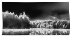 Beach Towel featuring the photograph West Lake Backlit by David Patterson