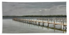 West Lake Docks Beach Towel
