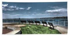 West Lake Okoboji Pier Beach Towel