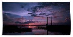 West Lake Toho Blu Indigo Sunset Beach Towel
