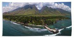 West Maui Mountains  Beach Towel