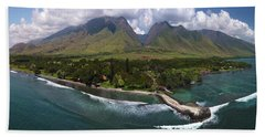 West Maui Mountains  Beach Sheet by James Roemmling