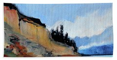 Beach Towel featuring the painting West Of Dungeness by Nancy Merkle