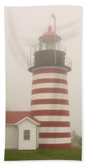 West Quody Head Lighthouse Beach Towel