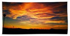 West Side Of A Sunset I Beach Towel