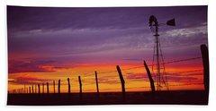 West Texas Sunset Beach Towel