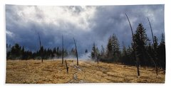 Beach Sheet featuring the photograph West Thumb Geyser Basin   by Lars Lentz