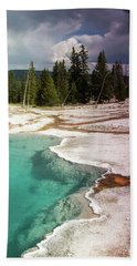 West Thumb Geyser Pool Beach Towel by Dawn Romine