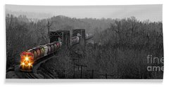 Beach Towel featuring the photograph Westbound Grain by Brad Allen Fine Art