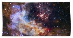 Westerlund 2 - Hubble 25th Anniversary Image Beach Towel by Adam Romanowicz