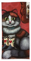 Western Boots Cat Painting Beach Towel