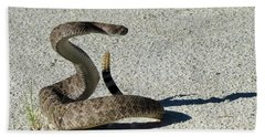 Western Diamondback Rattlesnake Beach Towel by Skeeze
