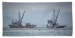 Beach Towel featuring the photograph Western Gambler And Marinet by Randy Hall
