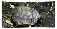 Western Pond Turtle, Actinemys Marmorata Beach Towel