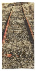 Western Railway Of Routes Forgotten Beach Towel
