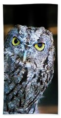 Beach Towel featuring the photograph Western Screech Owl by Anthony Jones