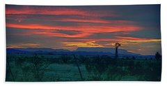 Western Texas Sunset Beach Towel