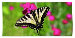 Western Tiger Swallowtail Butterfly Beach Towel