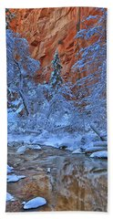 Westfork In Winter Beach Towel