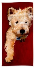 Westie Boy Beach Towel